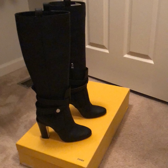 5db7434c6c3 Fendi- Diana Knee Boots